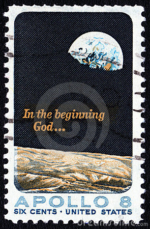 Apollo 8  USA 5c postage stamp