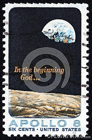 Apollo 8  USA 5c postage stamp