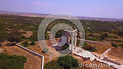 Apollo Hylates Kourion antenna di Cipro 4k stock footage