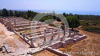 Apollo Hylates Kourion Cyprus aerial 4k stock video