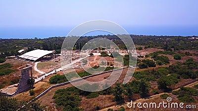 Apollo Hylates Kourion ruins Cyprus flyg 4 k stock video