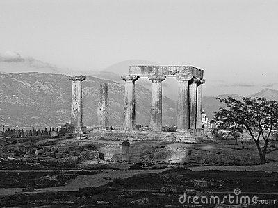Apollo s temple in Corinth Greece