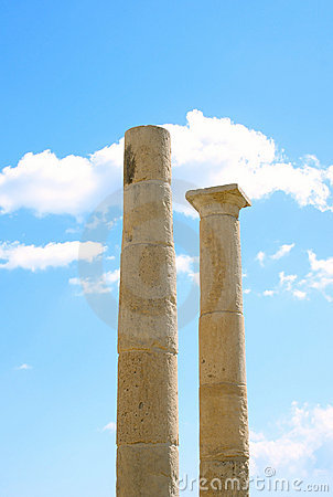 Free Apollo Temple Columns At Amathus Stock Photo - 12317040