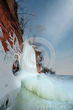 Free Apostle Islands Ice Caves, Winter, Travel Wisconsin Stock Photo - 141346530