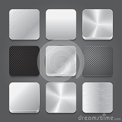 Free App Icons Background Set. Metal Button Icons. Royalty Free Stock Image - 30178126