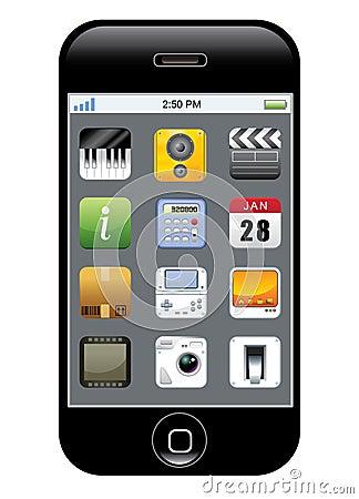 App van de telefoon pictogram