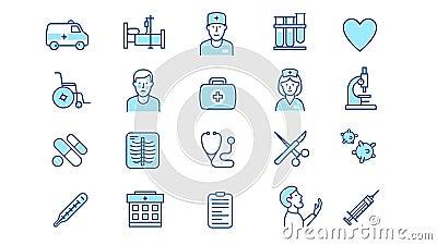 Apparecchiatura medicale medicale illustrazione vettoriale