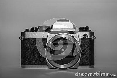 appareil photo noir et blanc de film de vintage photo stock image 59655966. Black Bedroom Furniture Sets. Home Design Ideas