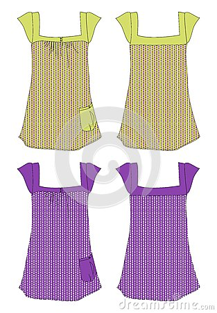 Apparel girl dress dot pattern