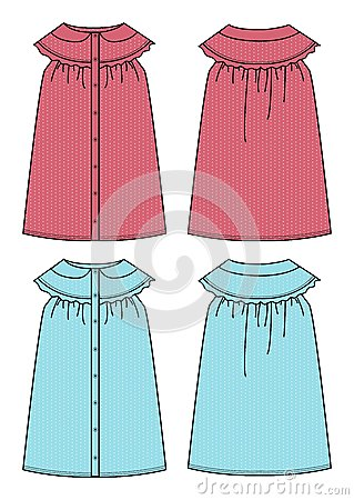 Apparel girl dress simple