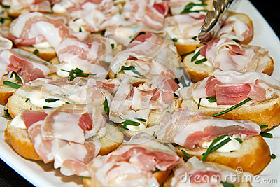 Appetizer with bacon