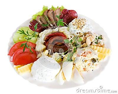 Appetizer food, salad