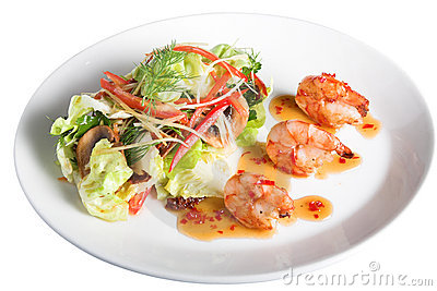 Appetizer with shrimps
