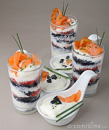 Appetizer, verrine and finger food