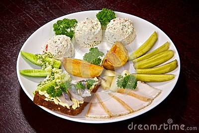 Appetizing cold dish
