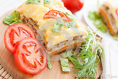 Appetizing and flavorful lasagna