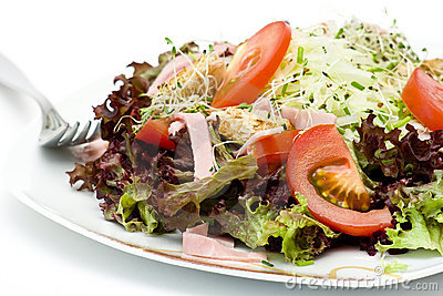 Appetizing healthy salad