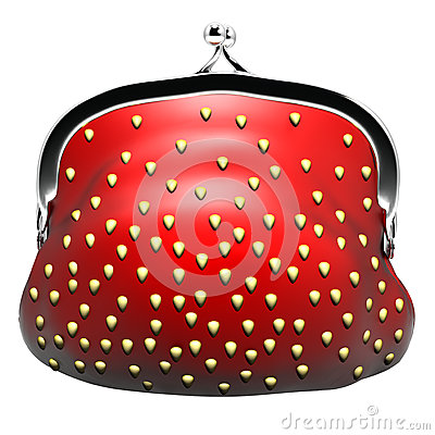 Appetizing purse strawberries