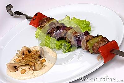 Appetizing restaurant food, studio shot