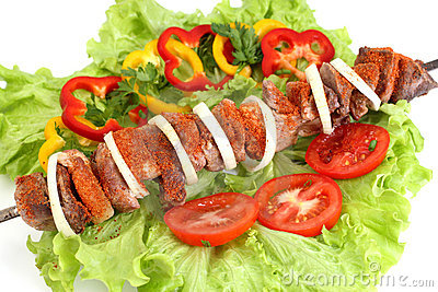 Appetizing shish kebab