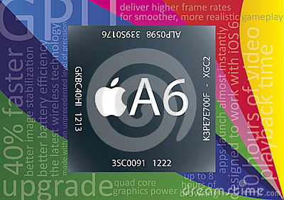 Apple A6 chip Editorial Stock Image