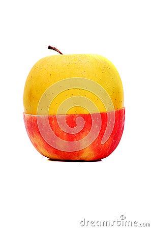Apple amarillo rojo