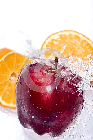 Free Apple And Orange Splash Stock Photography - 4031282