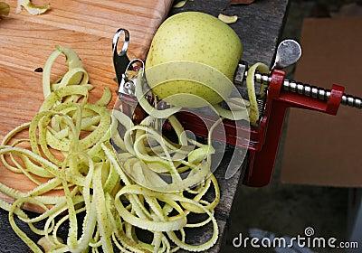 Apple on an Apple Peeler
