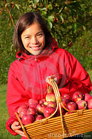 Free Apple Autumn Girl Royalty Free Stock Photo - 11264125