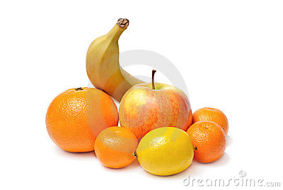 Apple banana orange mandarin lemon fruits