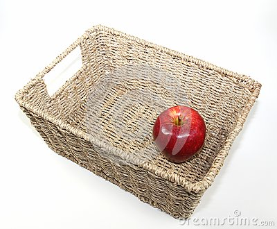 Apple in a basket