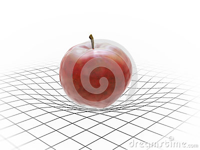 Apple bending spacetime