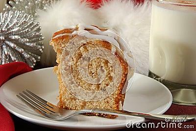 Apple bundt cake at Christmas
