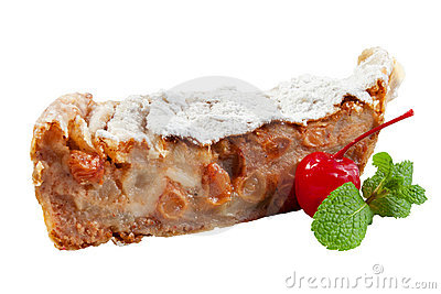 Apple cake with apricot
