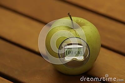 Apple calorie meter