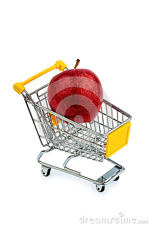 Apple in cart