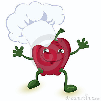 Apple-cartoon-character-in-chef-hat