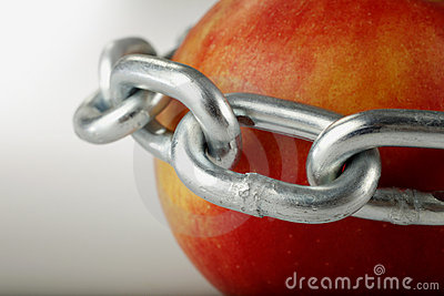 Apple in chains