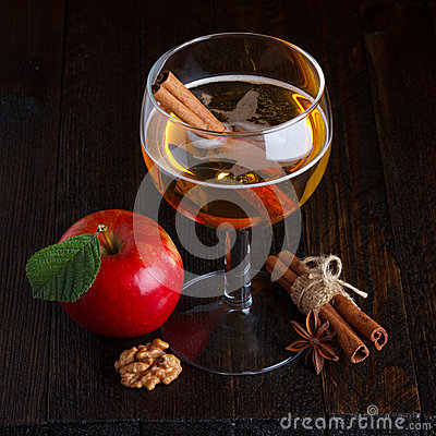 Apple cider still life