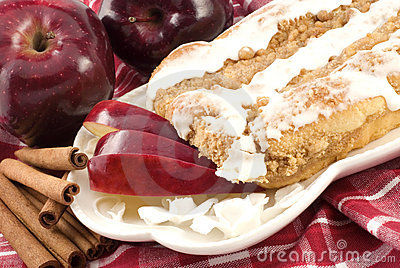 Apple Cinnamon Streusel Coffee Cake with Icing