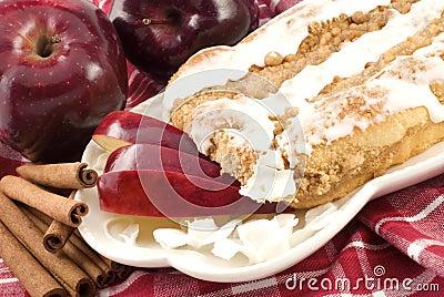 Apple Cinnamon Streusel Coffee Cake with Icing