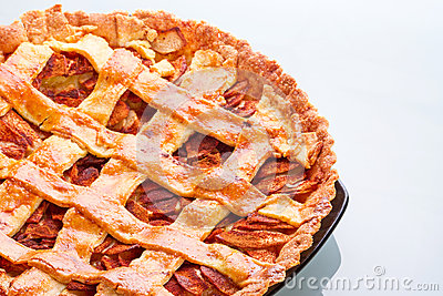 Apple and cinnamon tart on plate