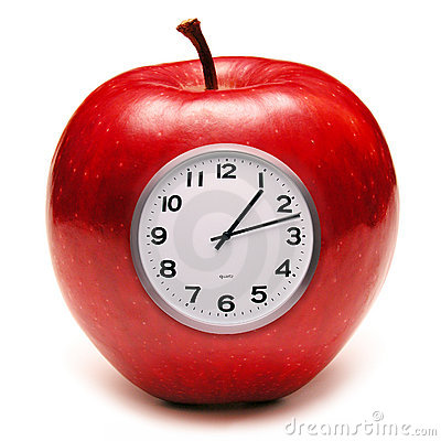 Free Apple Clock Healthy Eating Food Royalty Free Stock Photos - 3379648