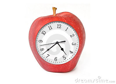 Apple Clock with Time