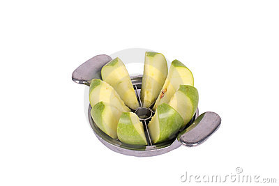 Apple cutter and green apple