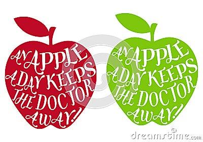 An apple a day, vector