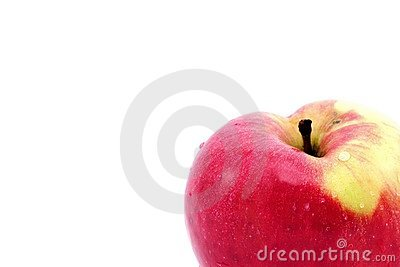 Apple detail isolated on white