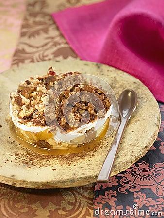 Apple,dried fig,hazelnut and honey Tiramisu