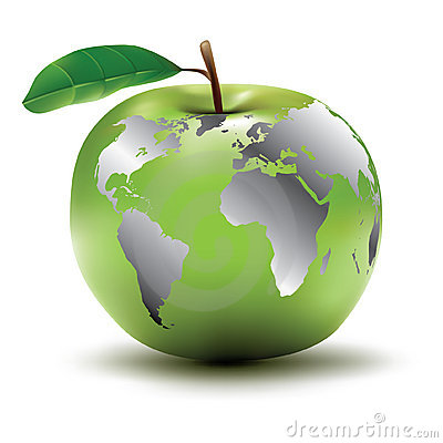 Apple - earth concept
