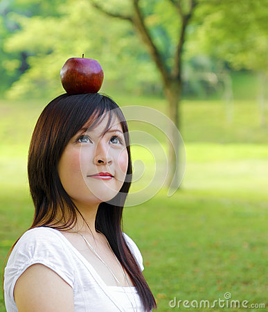 Apple fall on head